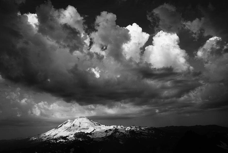 Mount Photograph - Mt. Baker Thunderstorm. by Alasdair Turner