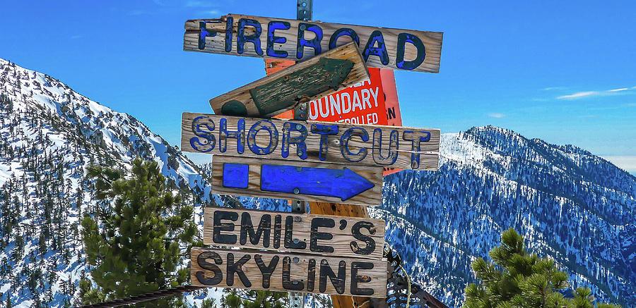 Mt. Baldy Mountain Sign by Richard Cheski