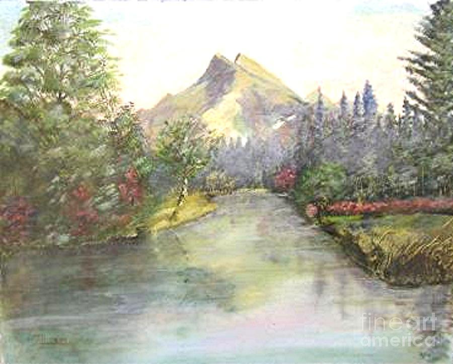 Mountain Painting - Mt Bundle by Nicholas Minniti