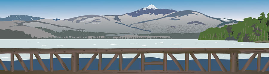 Mountains Painting - Mt. Chocorua by Marian Federspiel