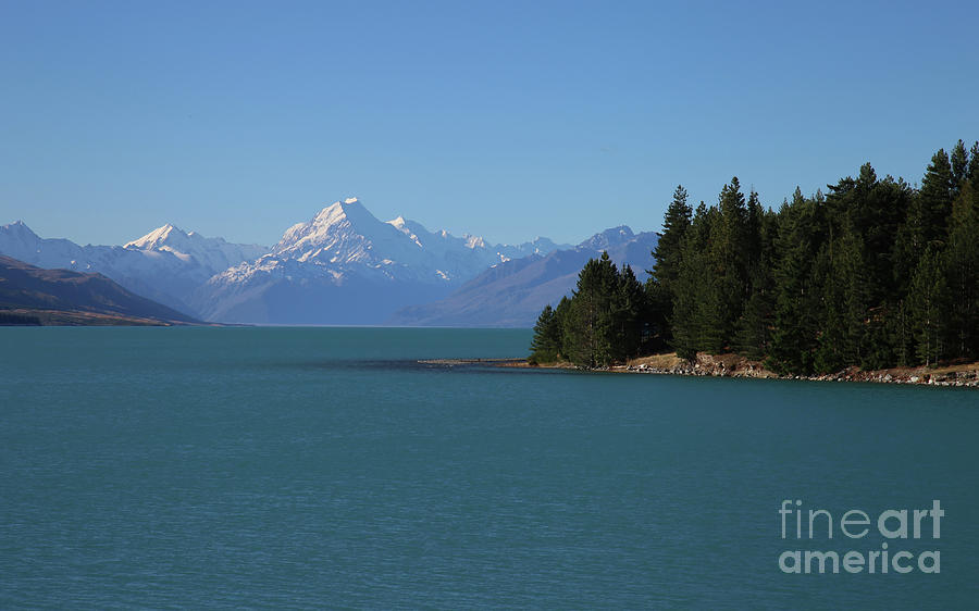 Mt Cook on our Blue Planet - New Zealand  by Julian Wicksteed