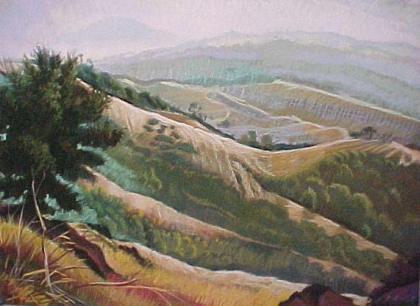 California Pastel - Mt Diablo View by Bobbi Baltzer-Jacobo