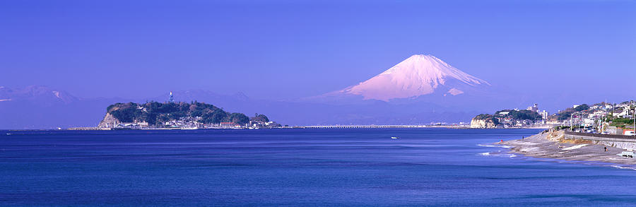 Color Image Photograph - Mt Fuji Kanagawa Japan by Panoramic Images