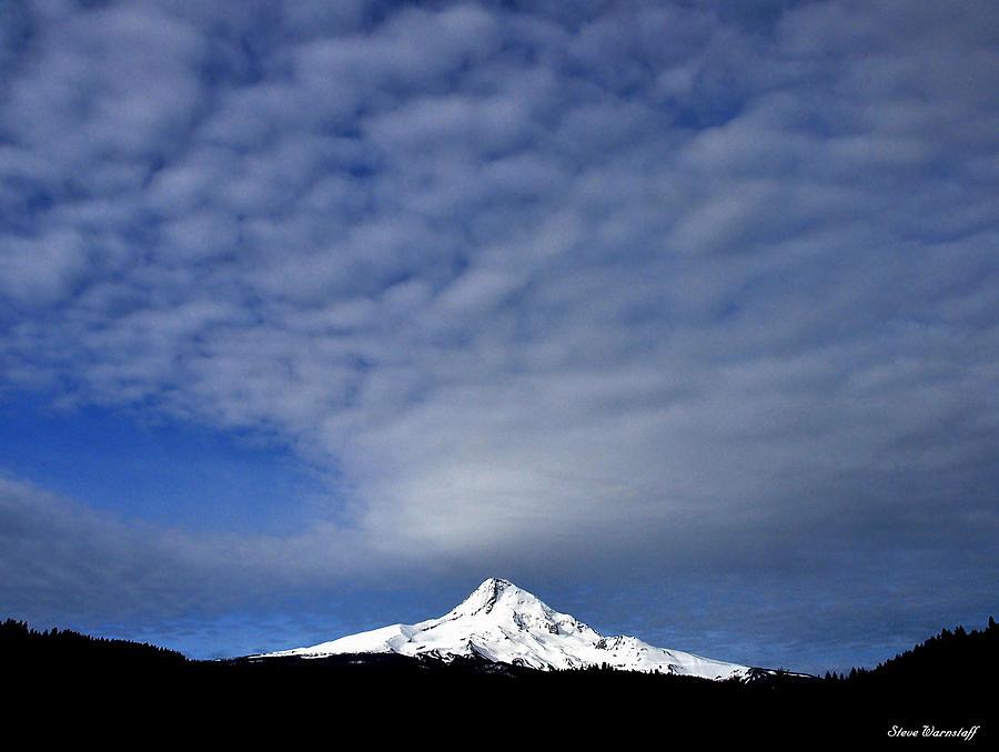 Cascade Photograph - Mt Hood 5 by Steve Warnstaff