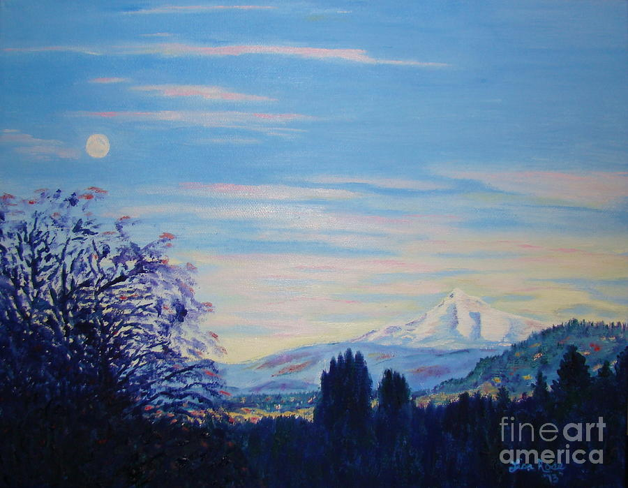 Mt Hood a view from Gresham by Lisa Rose Musselwhite
