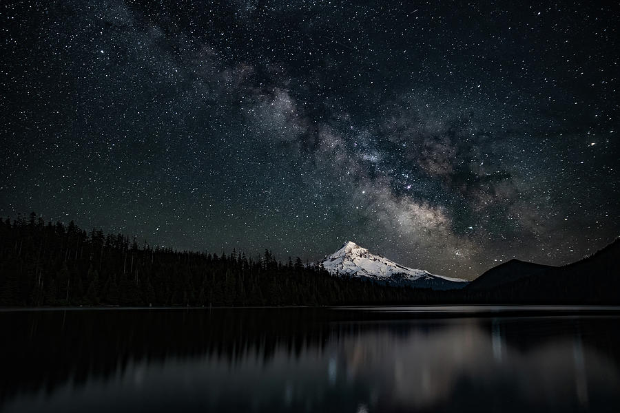 Mt. Hood and the Milky Way by Ken Dietz