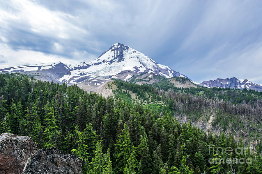 Cloud Cap Inn Photograph - Mt Hood From Cloud Cap by Linda Steider