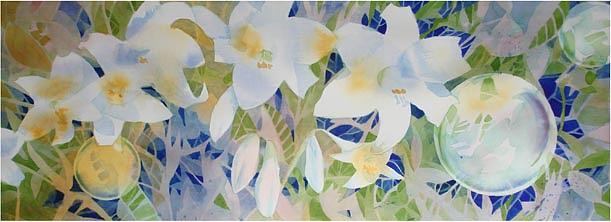 Landscape Painting - Mt Lofty Lilies Australia Series by Lynn Millar