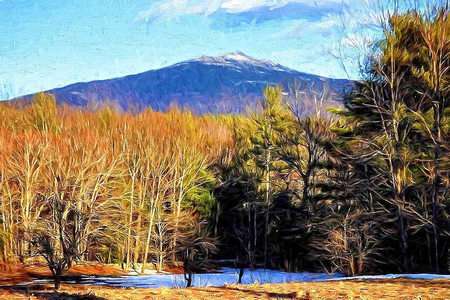 Mt. Monadnock Paintography by Mitchell R Grosky