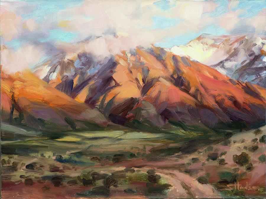 Utah Painting - Mt Nebo Range by Steve Henderson