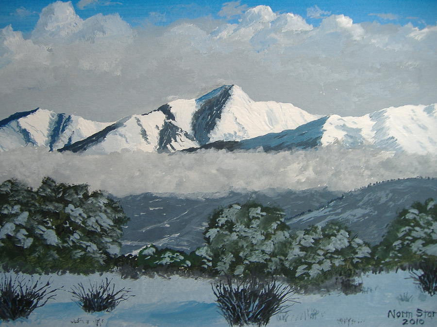 Colorado Painting - Mt Princeton Co by Norm Starks