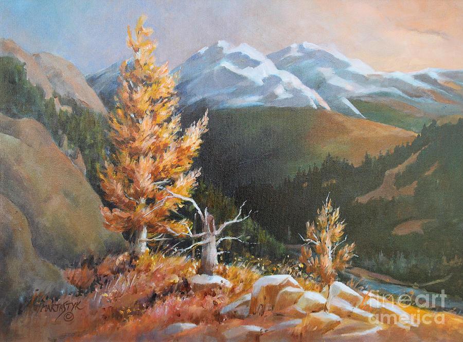 Landscape Painting - Mt. Rainier 5 by Marta Styk