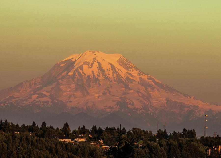 Mt. Rainier in the Evening Light by E Faithe Lester