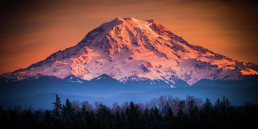 Mt. Rainier Sunset by Chris McKenna