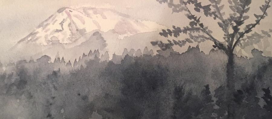 Landscape Painting - Mt. Rainier, Wa by Joanne Dour