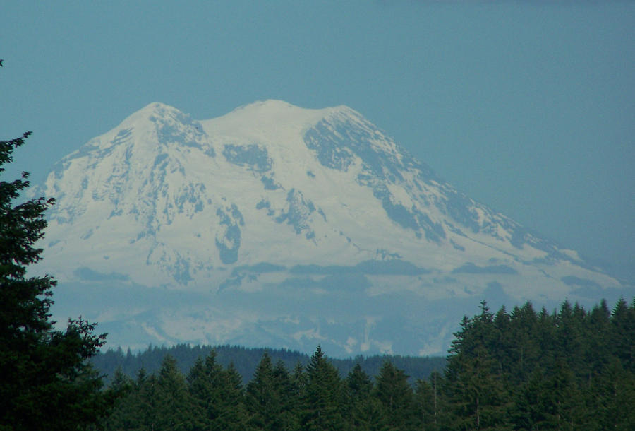 Mount Rainier Photograph - Mt Rainier Washington by Laurie Kidd
