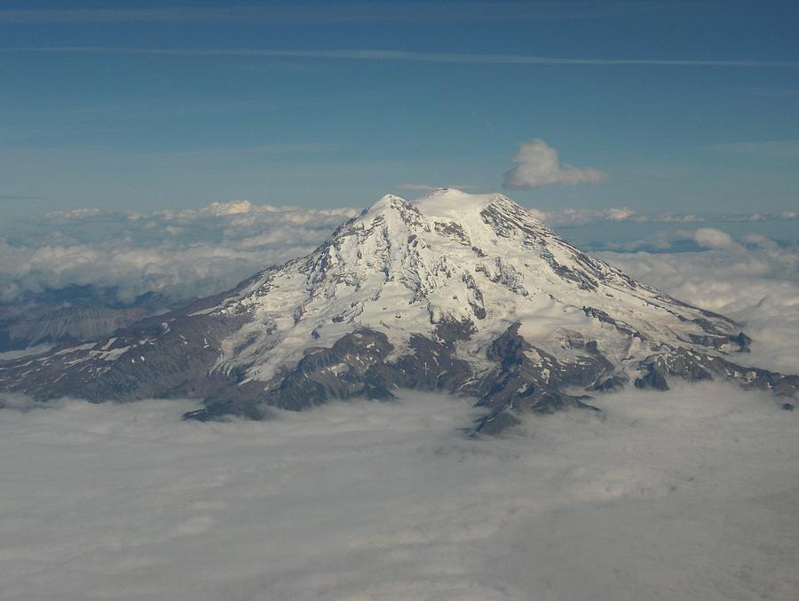 Mountain Photograph - Mt Ranier by Janet  Hall