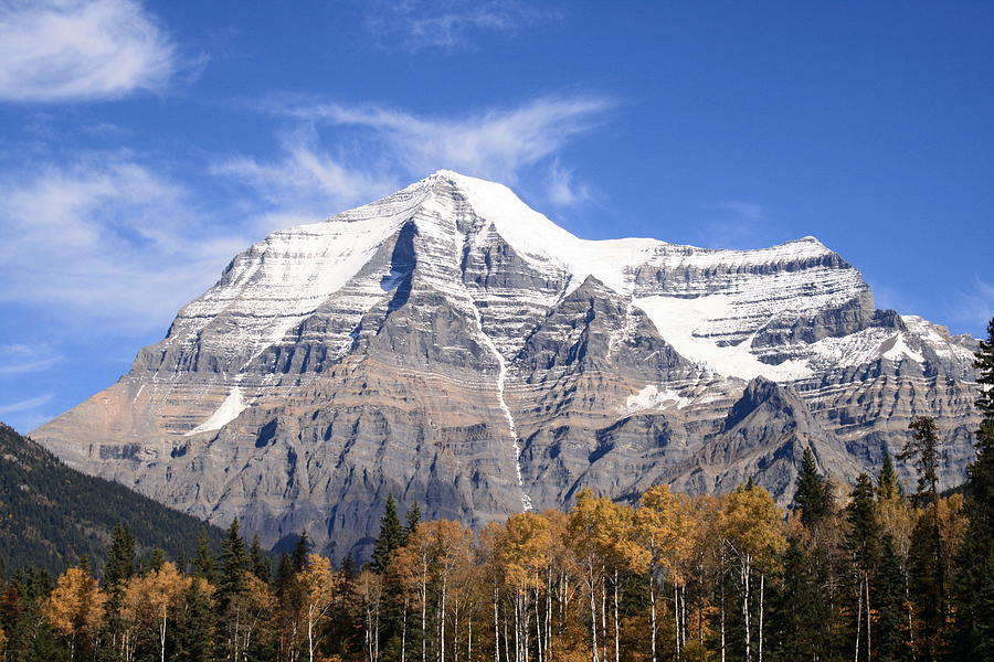 Rocky Mountain Photograph - Mt. Robson- Canadas Tallest Peak by Tiffany Vest