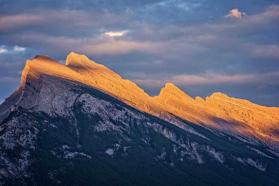 Joan Carroll Photograph - Mt Rundle Sunset Banff by Joan Carroll