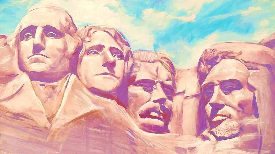 Mt Rushmore Painting - Mt Rushmore by Kean Butterfield