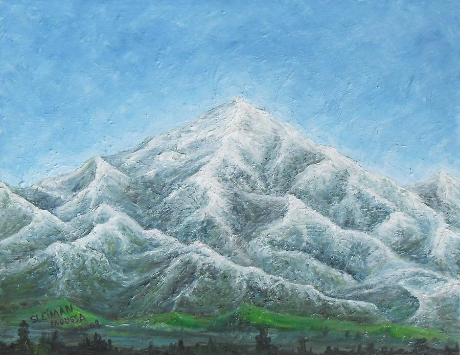 Landscape Painting - Mt San Gorgonio by Sleiman Moussa