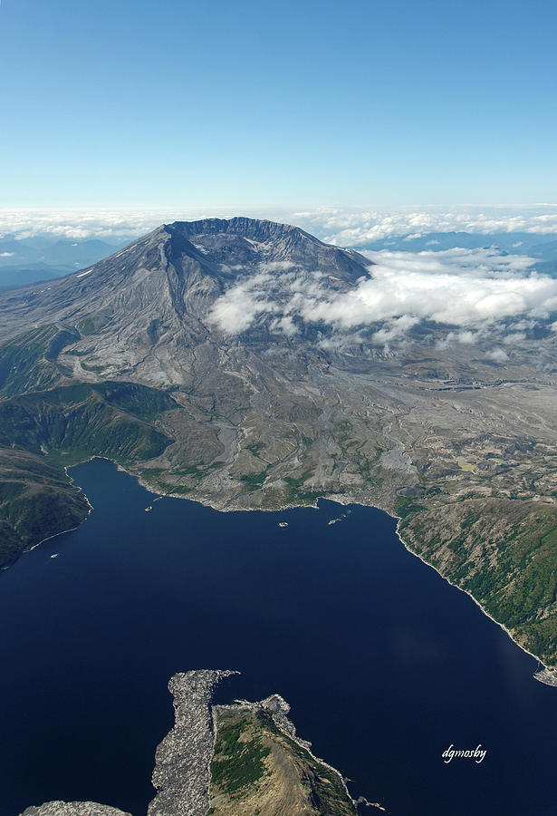 Mt. St. Helens Photograph - Mt. St. Helens Aerial 2225 by David Mosby