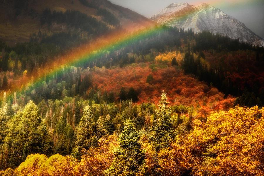 """ Il logo della settimana "" 2nd sessione Mt-timpanogos-with-autumn-colors-and-rainbow-utah-images"