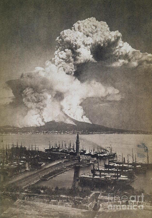 1872 Photograph - Mt. Vesuvius Erupting by Granger