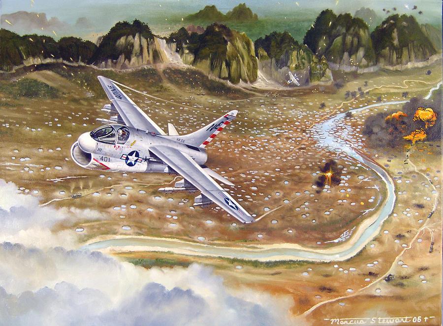Aviation Painting - Mu Gia Mayhem by Marc Stewart