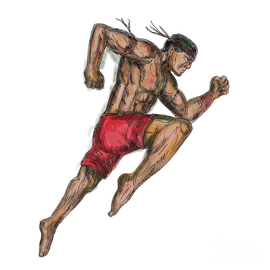 muay thai artwork