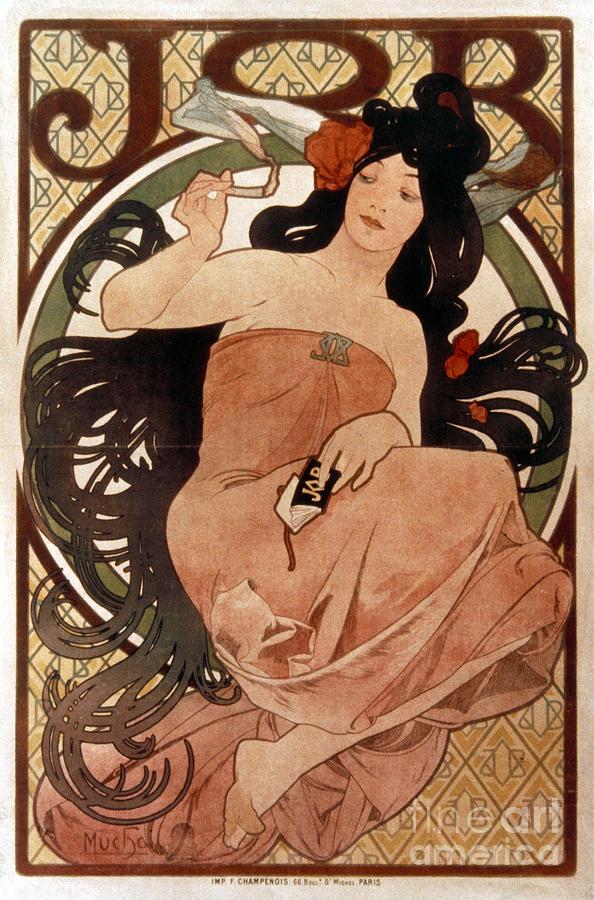 1898 Photograph - Mucha: Cigarette Paper Ad by Granger