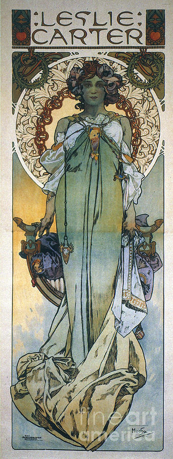1909 Photograph - Mucha: Theatrical Poster by Granger