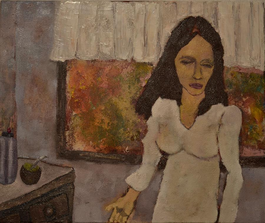 Muchacha Con Mate Painting by Ross Keegan