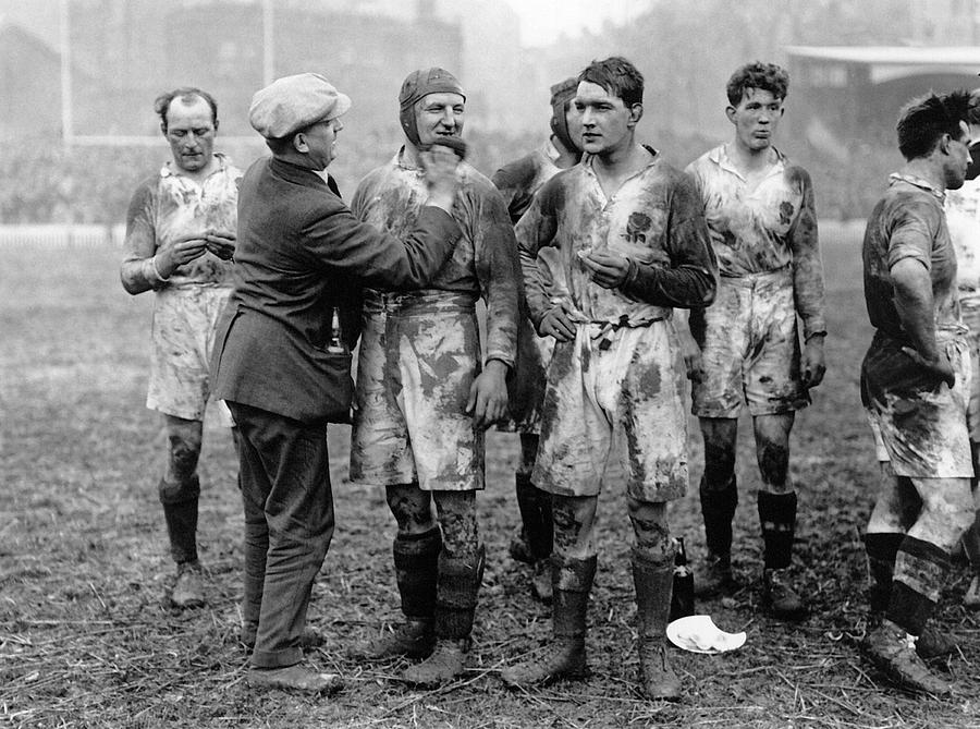 Adult Photograph - Muddy Players by Hulton Collection