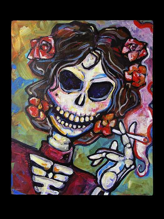 Muerte De Dama Painting by William  Wiggins III