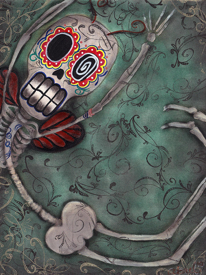 Day Of The Dead Painting - Muerte Fairy by  Abril Andrade Griffith