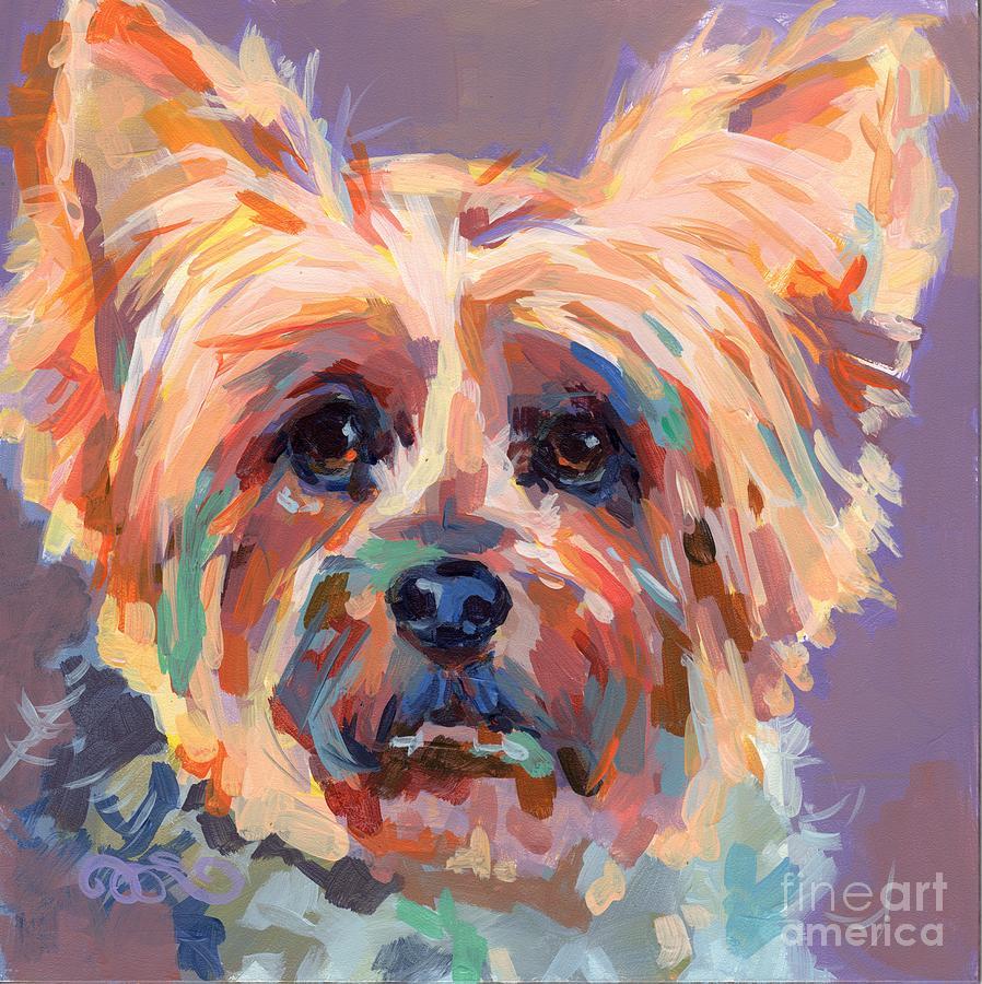 Yorkie Painting - Muffin by Kimberly Santini