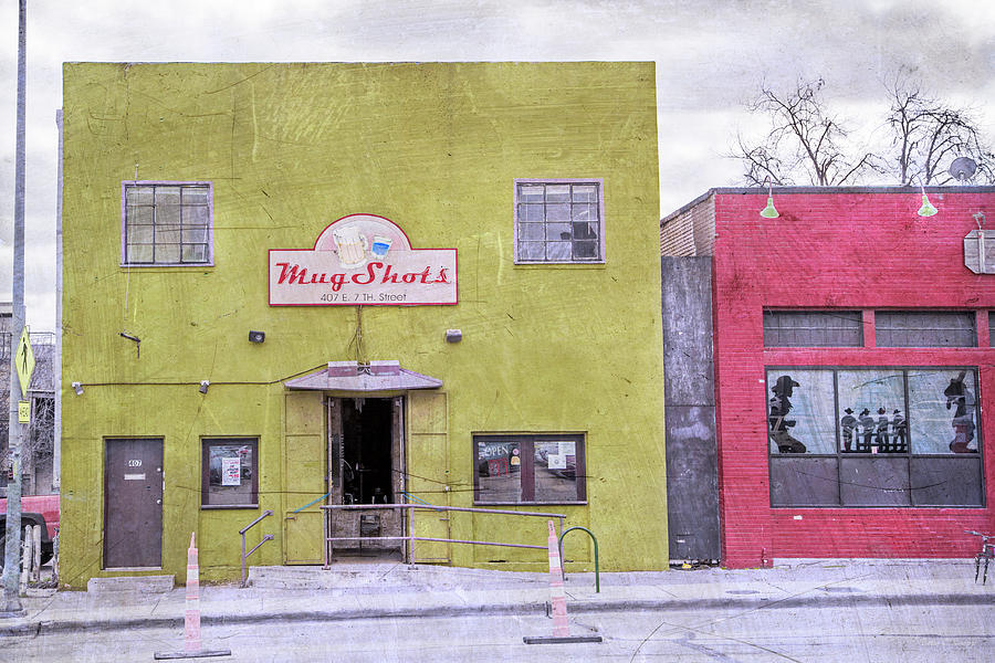 Restaurant Photograph - Mug Shots Austin Texas by Betsy Knapp