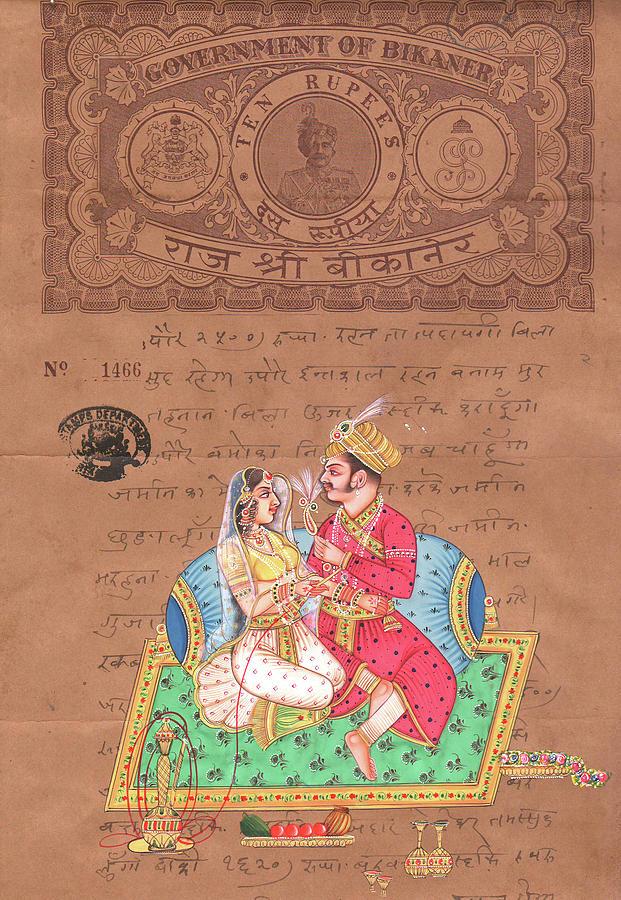 Mughal king art of love kamsutra indian miniature - Kamasutra mobel ...