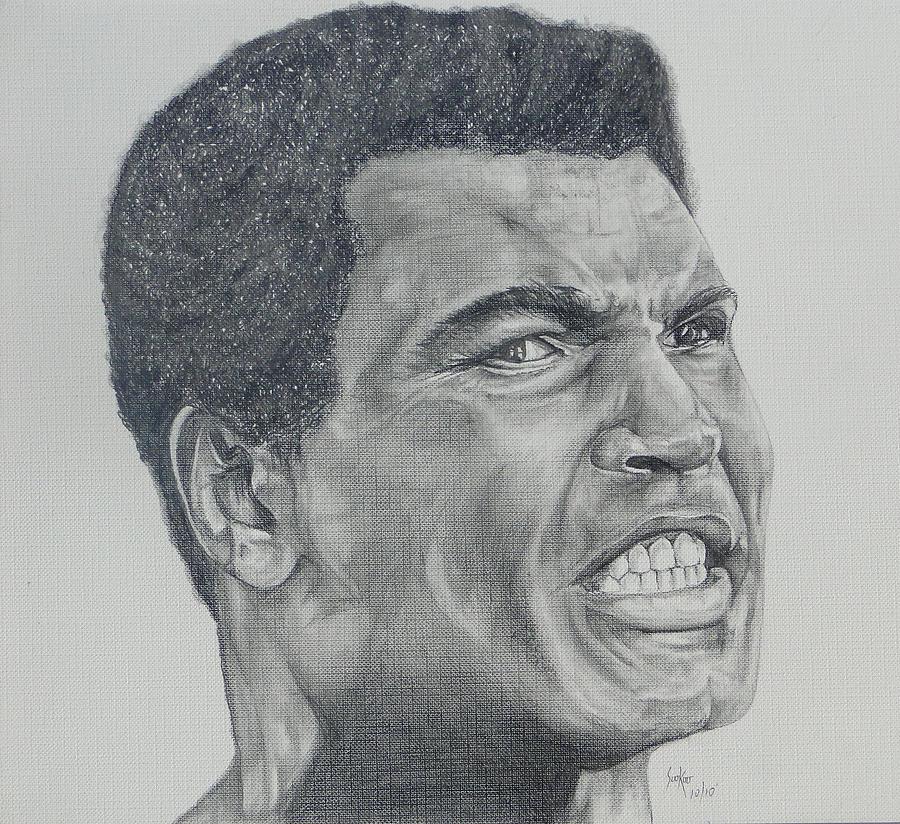 Mohammad Ali Drawing - Muhammad Ali by Stephen Sookoo