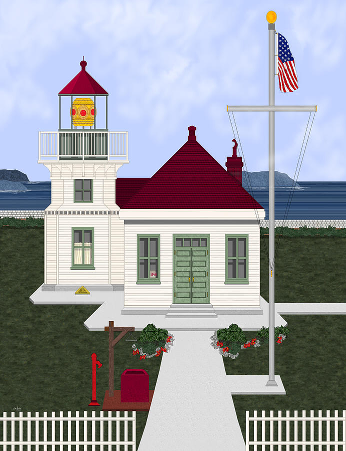 Lighthouse Painting - Mukilteo Light by Anne Norskog