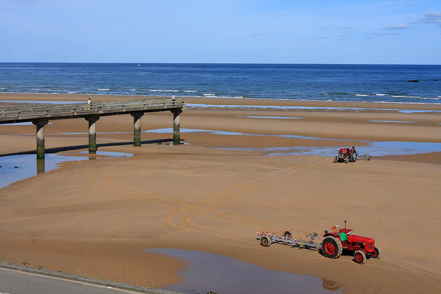 France Photograph - Mulberry Harbour, Omaha Beach, Normandy by Aidan Moran