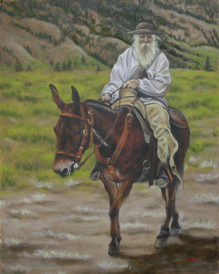 Oil Painting Painting - Mule Walk by Todd Cooper