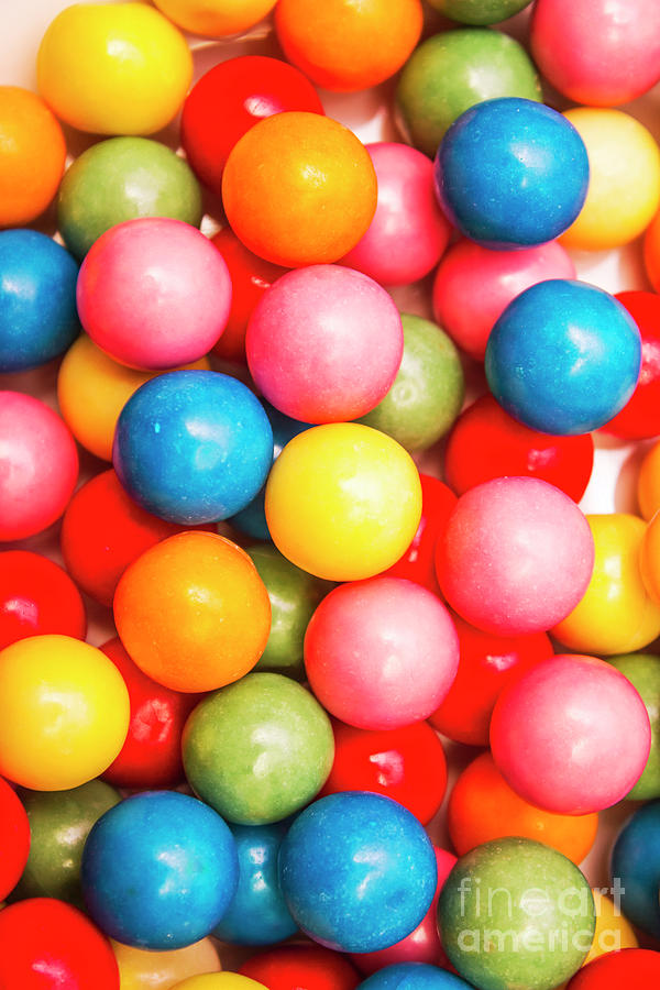 Lolly Photograph - Multi Colored Gumballs. Sweets Background by Jorgo Photography - Wall Art Gallery