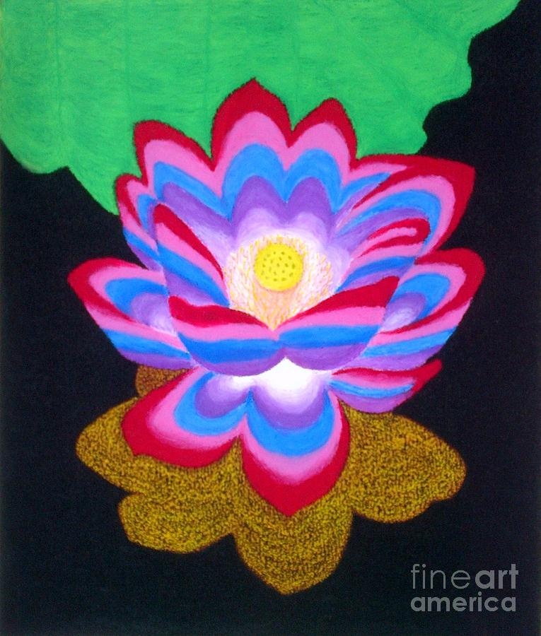 Multi colored lotus flower pastel by pamela abeleda lotus flower pastel multi colored lotus flower by pamela abeleda mightylinksfo