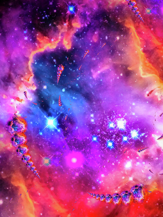 Space Photograph - Multi Colored Space Chaos by Matthias Hauser