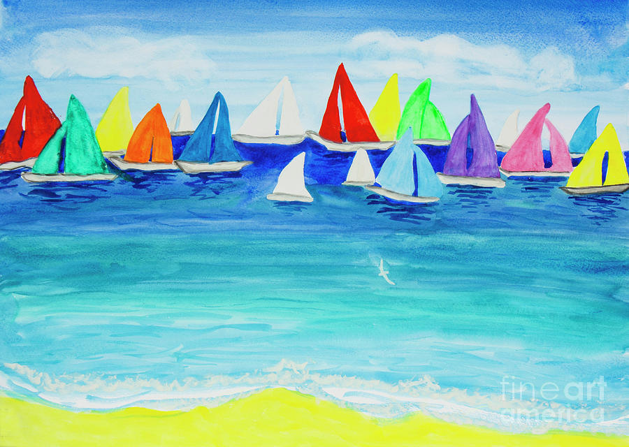 Multicolor regatta one by Irina Afonskaya