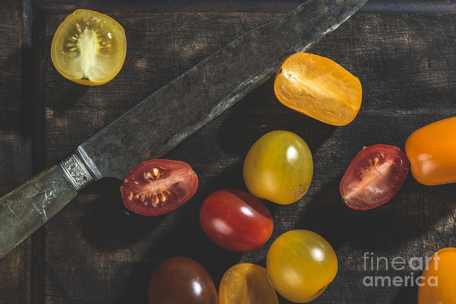 Agriculture Photograph - Multicolored Cherry Tomatoes by Deyan Georgiev