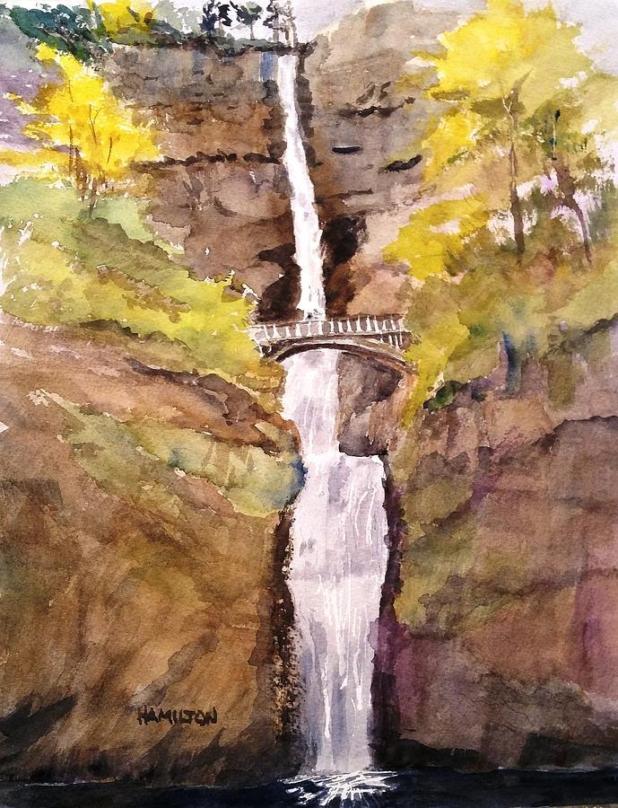 Multnomah Falls by Larry Hamilton