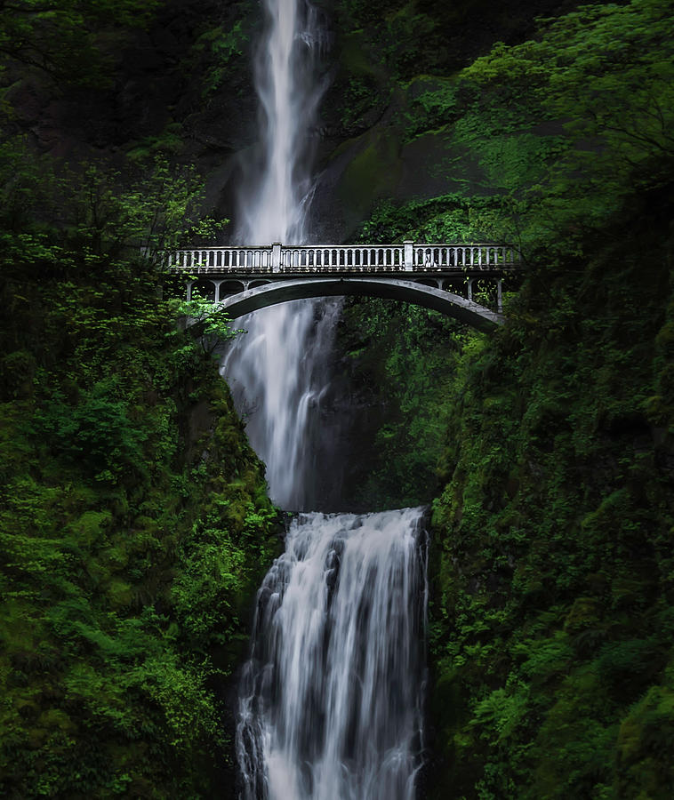 Columbia River Gorge Photograph - Multnomah Falls by Larry Marshall